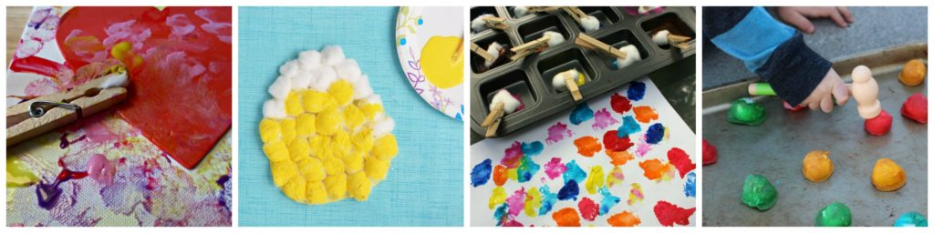 Cotton Ball Hands-on Activities for Kids Art and Fine Motor