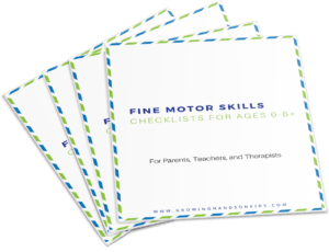 Fine Motor Skills checklists