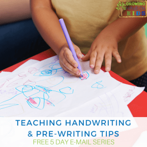 5 Days of Pre-Writing and Handwriting Tips e-mail series. A Free series by an Occupational Therapy Assistant.