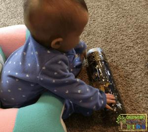 Batman Sensory Bottle for sensory play.