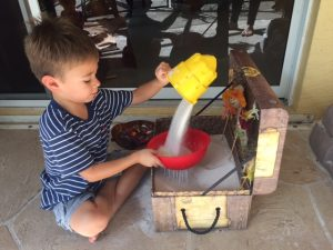 Fall themed sensory play ideas for kids.