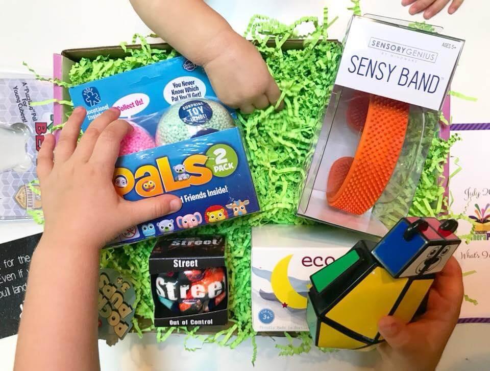 July Sensory Theraplay Box.