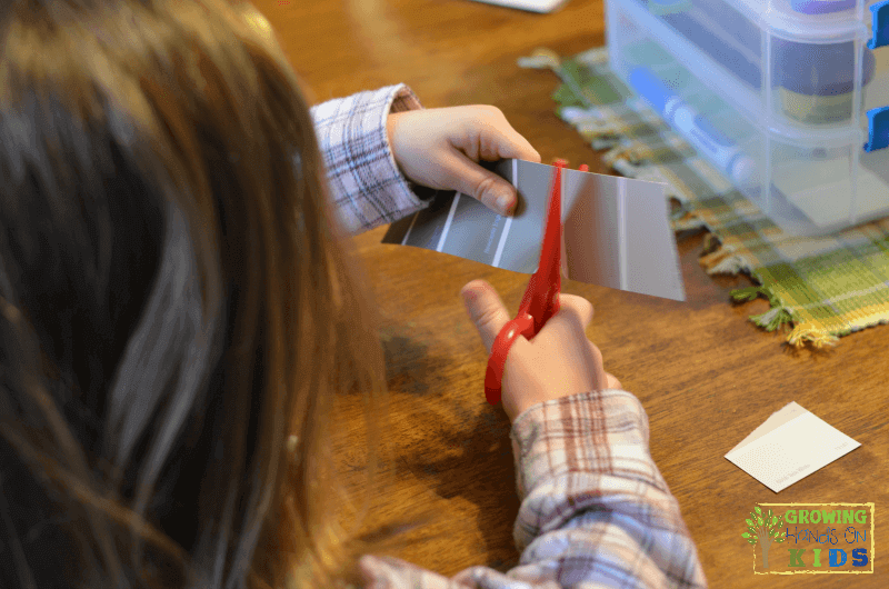 scissor skill development, age 5.