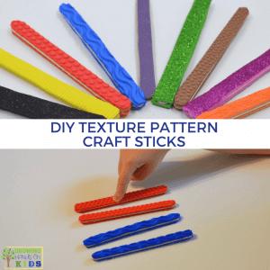 DIY Texture Pattern Craft Sticks for Hands-On Activities.