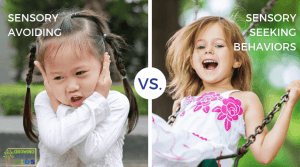 Sensory avoiding vs. sensory seeking behaviors in children.