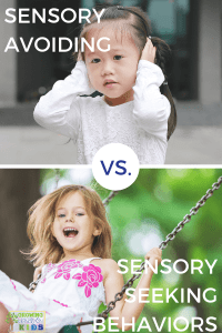 Sensory avoiding vs. sensory seeking behaviors in children.