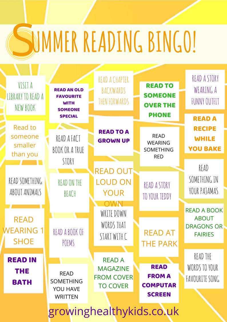 Summer planning bingo