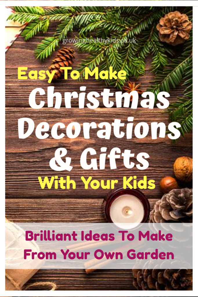 Easy to make homemade gifts straight from your garden to the ones you love. How to make wreaths, and ther decorations to brighten your home for little cost. The best bit is kids can help too.