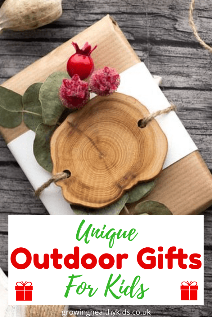 Awesome outdoor themed gifts for kids. A list full of great products to help get your kids in their backyards and making fun projects and help bring gardens indoors