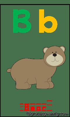 Alphabet Zoo - B for Bear