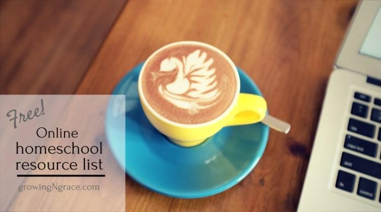 list of free online homeschool resources