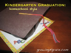 homeschool kindergarten graduation