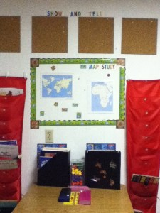 cork board show and tell