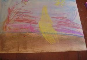 Beach by my creative 4 year old