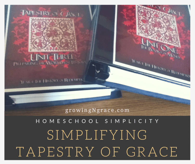simplifying Tapestry of Grace | classically homeschooling ADHD