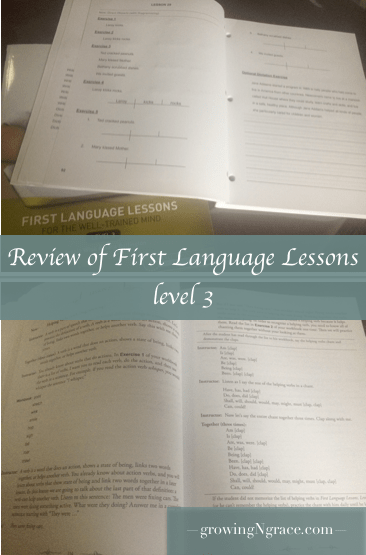 homeschool grammar curriculum review | Well Trained Mind | First Language Lessons
