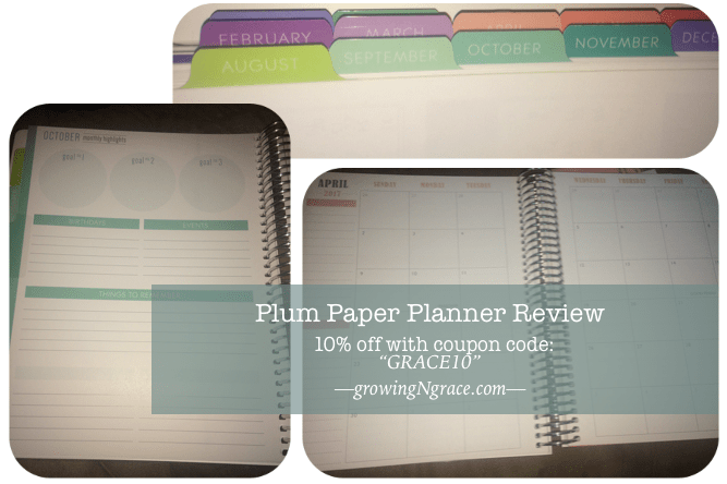 plum paper planner coupon code | planner review | planners for moms | homeschool planner