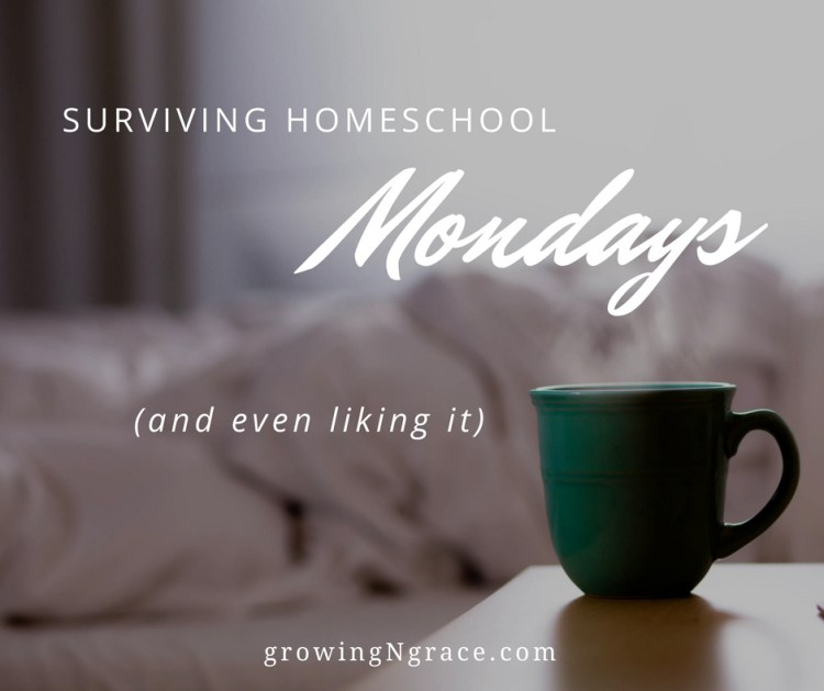 surviving homeschool mondays | homeschooling on the hard days | ideas for a casual learning routine