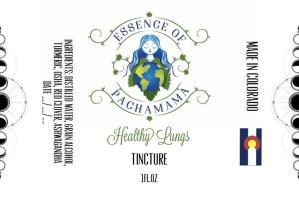 healthy lungs tincture label