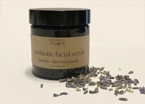 lavender probiotic facial scrub