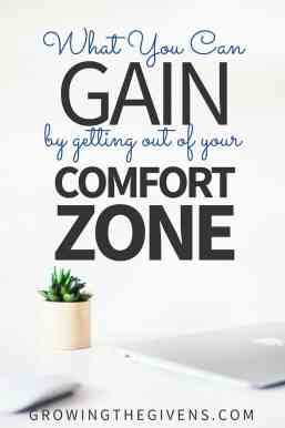 Trying new things can be hard. There are so many what if questions that go through our mind as we try to decide if a new hobby, business, relationship is going to work out. And sometimes we overthink so much that it stops us from moving. Don't do that. Get out of your comfort zone!