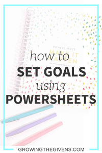 Using Lara Casey's Powersheets is the best thing to ever happen to my goal setting. Check out how to use Powersheets to create and achieve your goals!