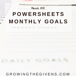 Monthly Goals for March 2017