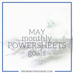 May Monthly Powersheets Goals