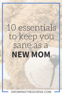 Being a new mom is tough, but to make it easier, I have identified 10 essential items to help keep you sane as you start motherhood.