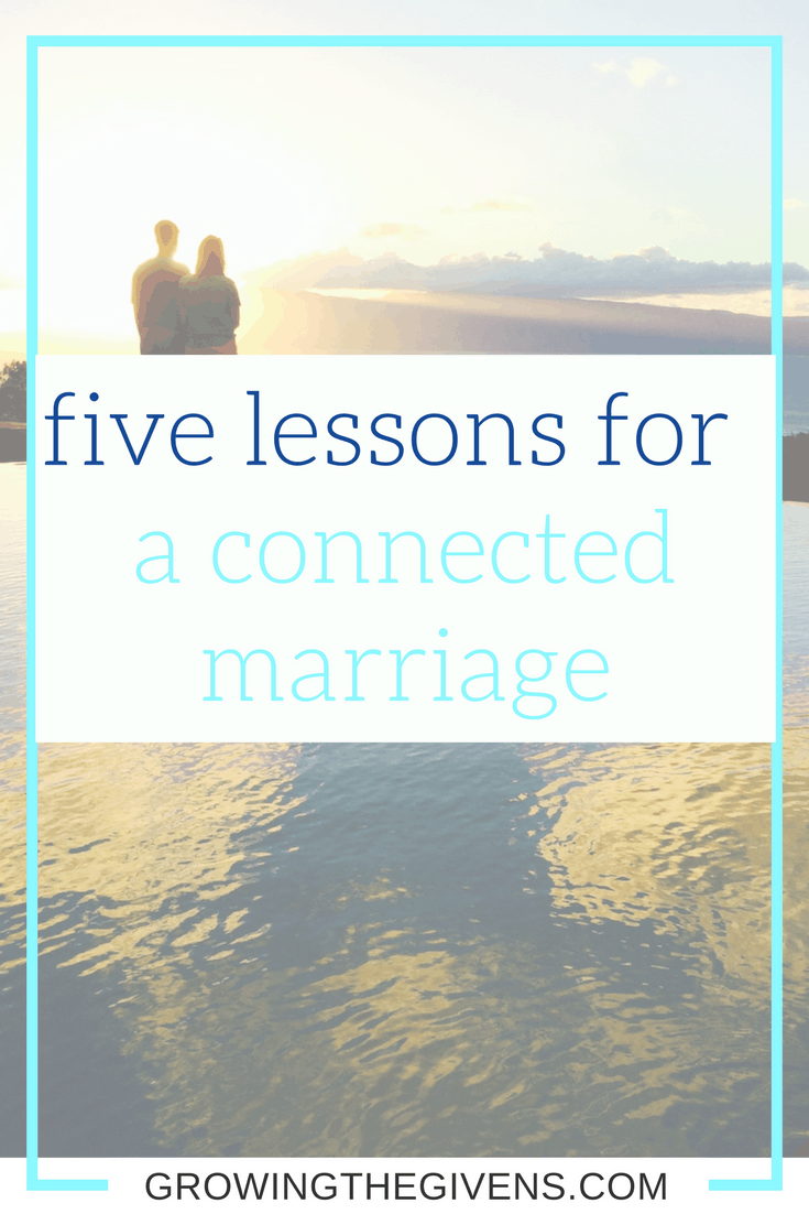Marriage takes a lot of work to keep things working and to keep you and your spouse connected. Use these lessons as a way to build a better marriage.