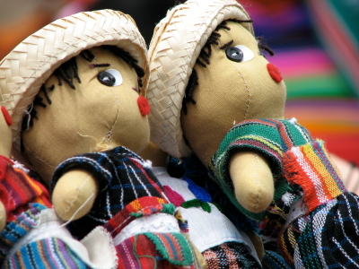 Typical Guatemalan toys at the Central Market