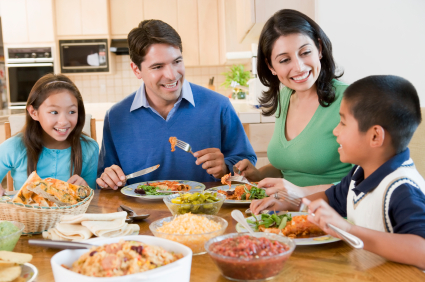 Sharing a meal together is such an important part of family life.