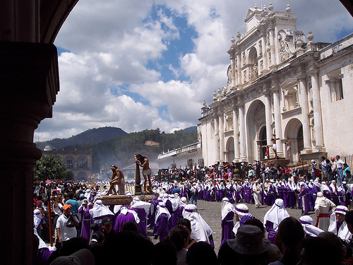 Semana Santa traditions in Guatemala.