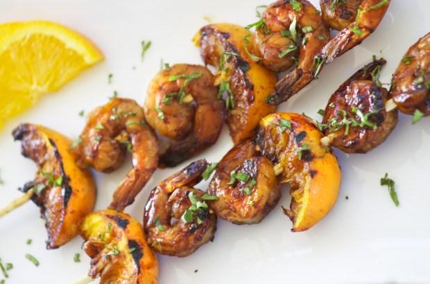 Tamarind citrus shrimp skewers