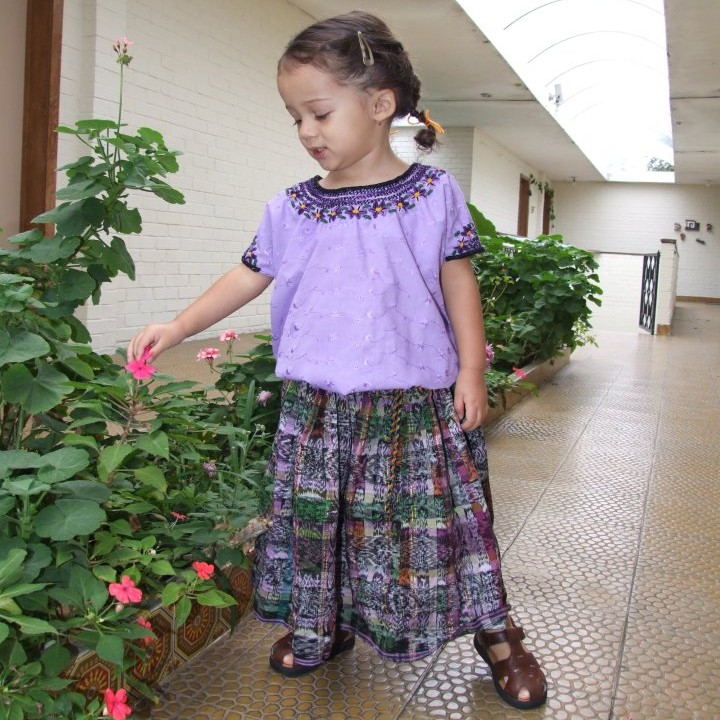 girl in Guatemalan traditional costume