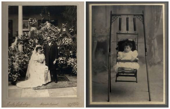 antique pictures of wedding and child in Guatemala