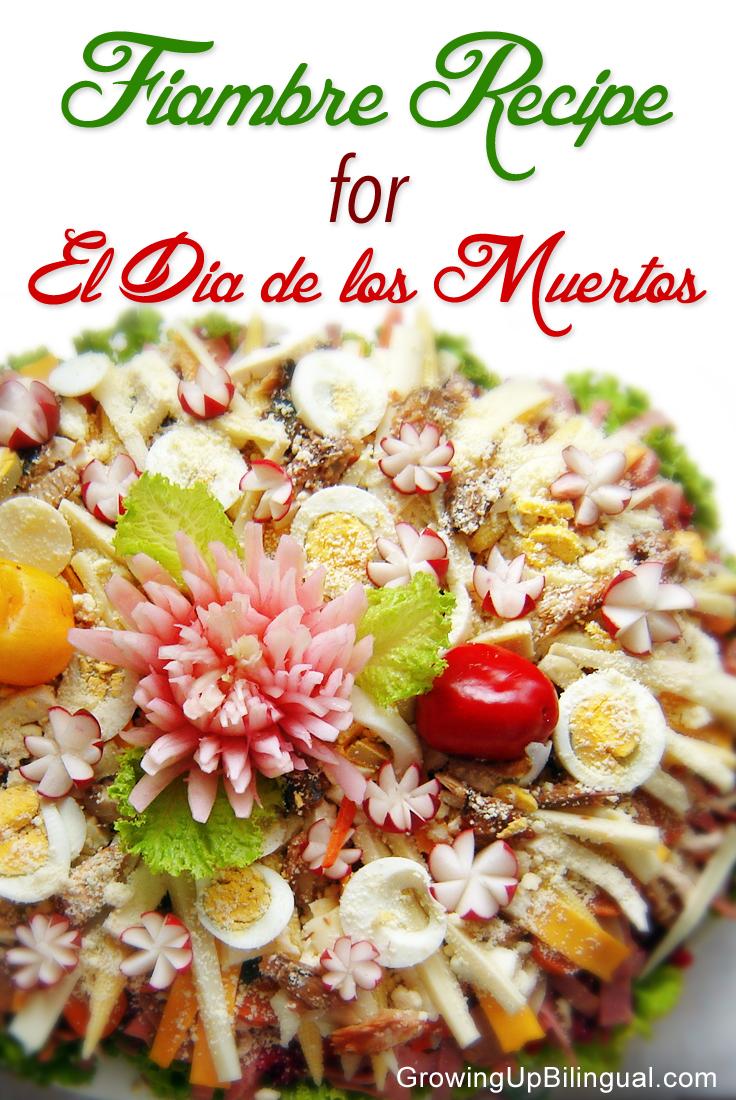 Fiambre recipe receta Dia de los Muertos Guatemala