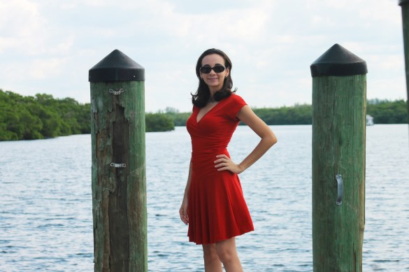 little red dress travel clothes