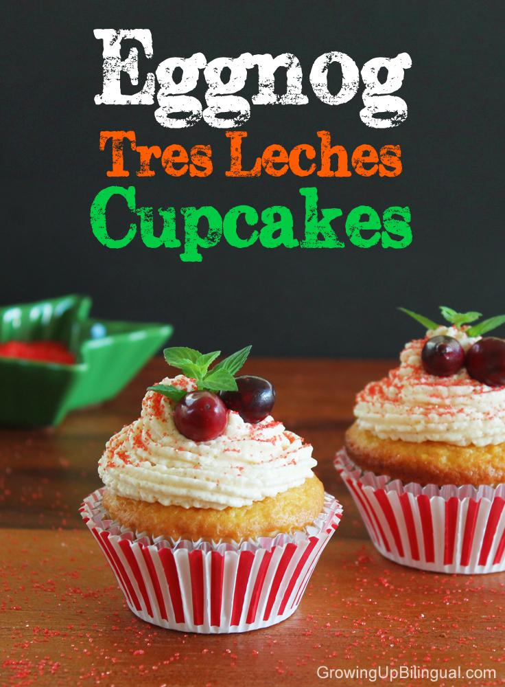 eggnog tres leches cupcakes