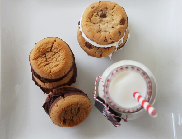 cookie sandwiches chocolate peanut butter filling recipe