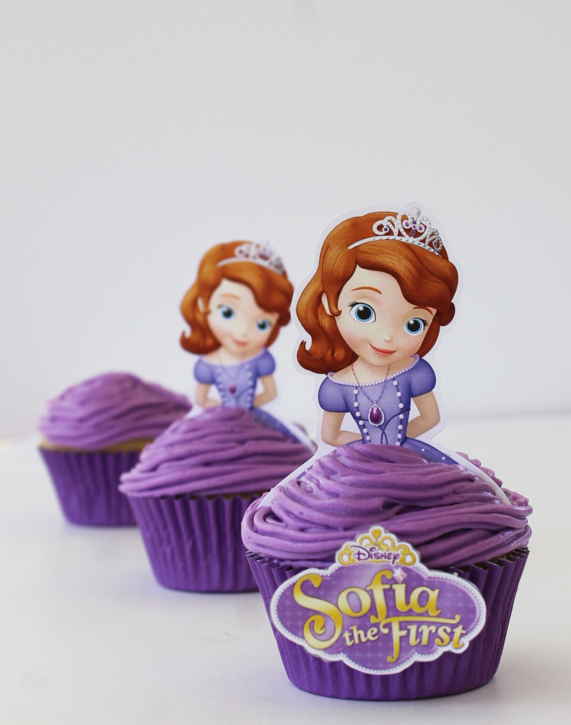 picture relating to Printable Cupcakes called Sofia the To start with Princess Blueberry Cupcakes - Free of charge Printables