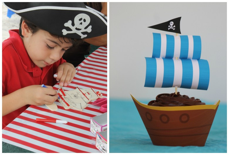 Pirate party activities and food