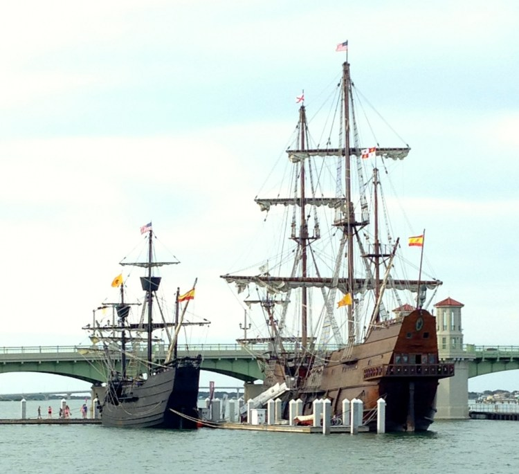 El Galeon and the Nao Victoria in St Augustine