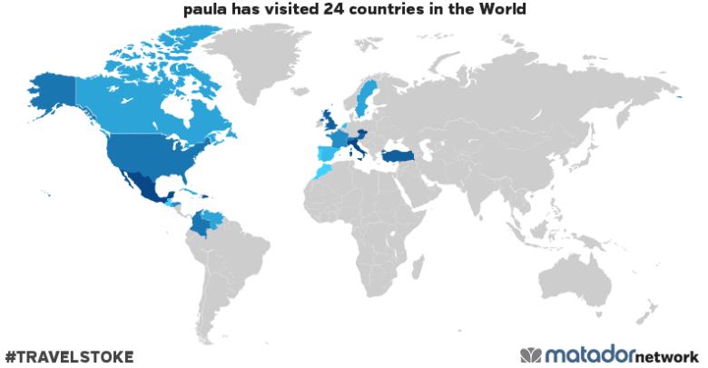 paula's Travel Map