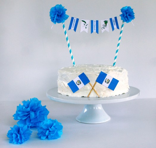 Guatemala independence day free printable cake banner