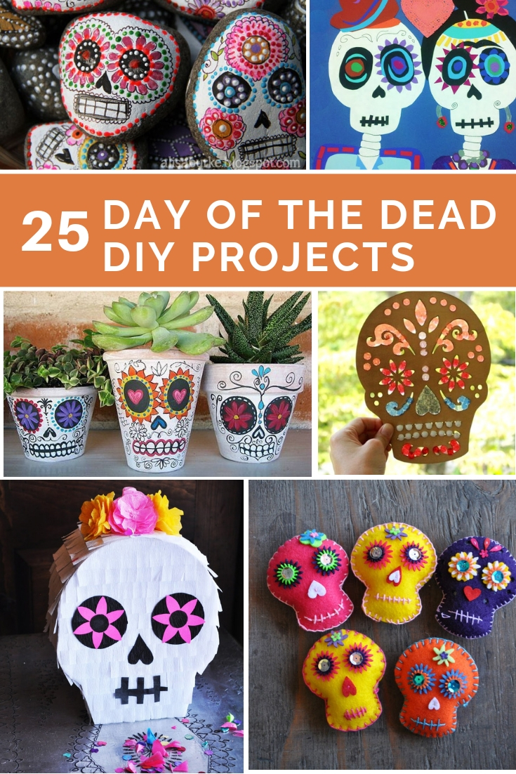 day of the dead craft ideas 25 easy day of the dead diy projects 7658