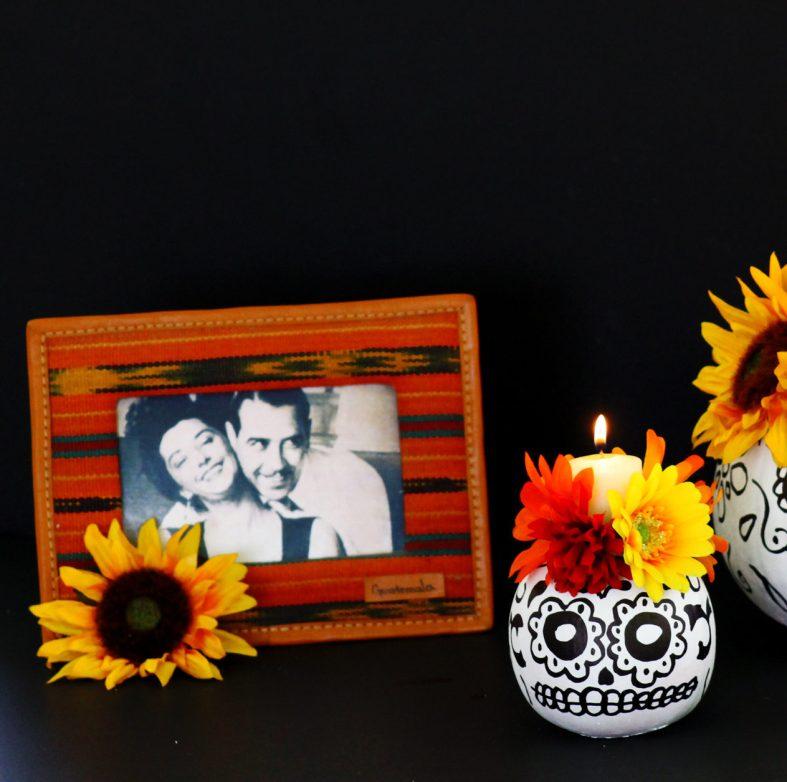 Day of the Dead sugar skull pumpkins