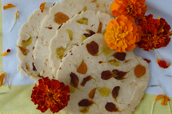 Tortillas de Cempazuchitl Marigold Tortillas