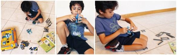 Sebastian working on his robot