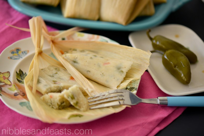 Tamales de nopalitos for Day of the Dead